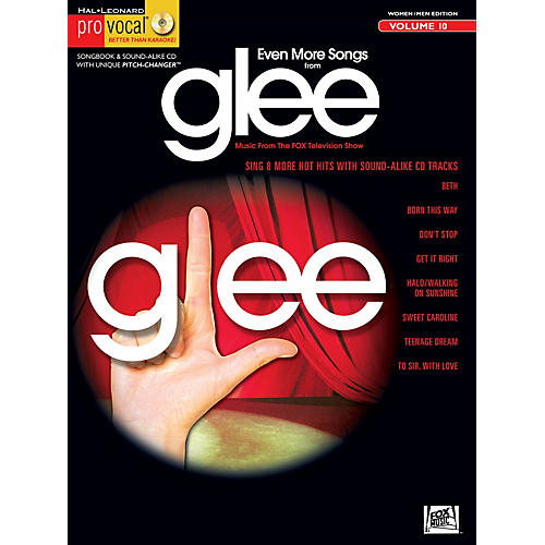 Hal Leonard Even More Songs From Glee - Pro Vocal Songbook & CD For Women/Men Volume 10