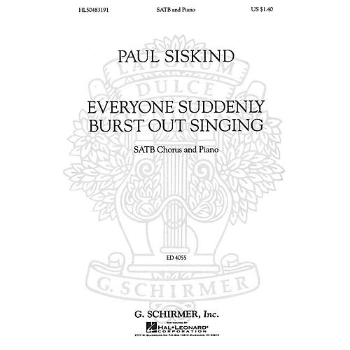 G. Schirmer Everyone Suddenly Burst Out Singing (SSAATTBB Chorus and Piano) SSAATTBB composed by Paul Siskind-thumbnail