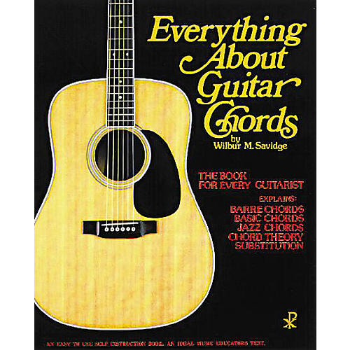 Music Sales Everything About Guitar Chords Music Sales America Series Softcover Written by Wilbur M. Savidge-thumbnail