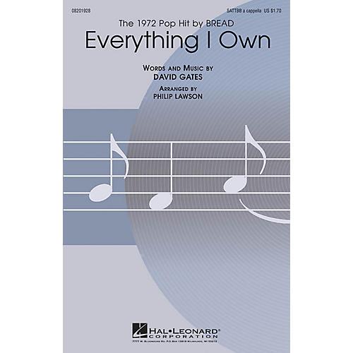 Hal Leonard Everything I Own SATTBB A Cappella by Bread arranged by Philip Lawson