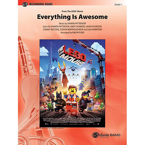 Alfred Everything Is Awesome (Awesome Remixxx!!! from The Lego Movie) Concert Band Grade 1