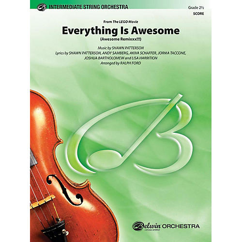 Alfred Everything Is Awesome (from The LEGO Movie) String Orchestra Grade 2.5-thumbnail