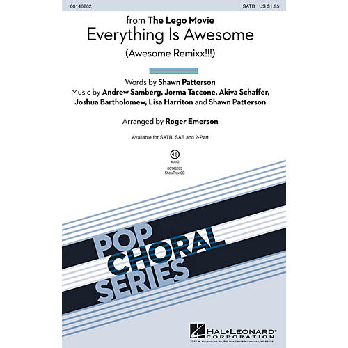 Hal Leonard Everything Is Awesome (from The Lego Movie) ShowTrax CD Arranged by Roger Emerson-thumbnail