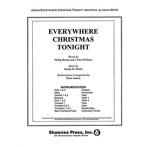Shawnee Press Everywhere Christmas Tonight INSTRUMENTAL ACCOMP PARTS composed by J. Paul Williams-thumbnail