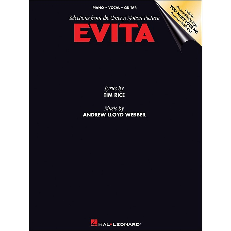 Hal Leonard Evita Selections From The Motion Picture arranged for piano, vocal, and guitar (P/V/G)