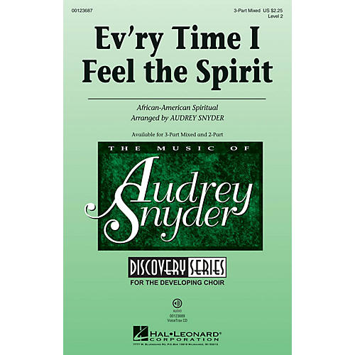Hal Leonard Ev'ry Time I Feel the Spirit (Discovery Level 2) 3-Part Mixed arranged by Audrey Snyder-thumbnail