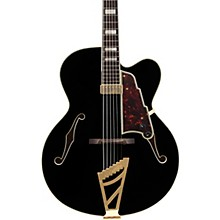 D'Angelico Excel EXL-1 Hollowbody Electric Guitar Black Tortoise Pickguard