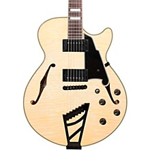 D'Angelico Excel Series EX-SS Left-Handed Semi-Hollowbody Electric Guitar with Stairstep Tailpiece and Black Hardware