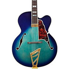 D'Angelico Excel Series EXL-1 Hollowbody Electric Guitar with Stairstep Tailpiece Blue Burst