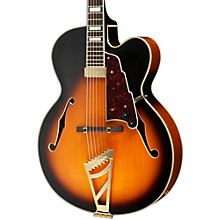 D'Angelico Excel Series EXL-1 Hollowbody Electric Guitar with Stairstep Tailpiece Vintage Sunburst