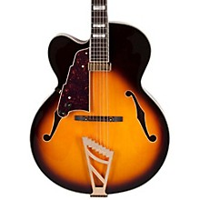 D'Angelico Excel Series EXL-1 Left Handed Hollowbody Electric Guitar with Stairstep Tailpiece Sunburst Sunburst