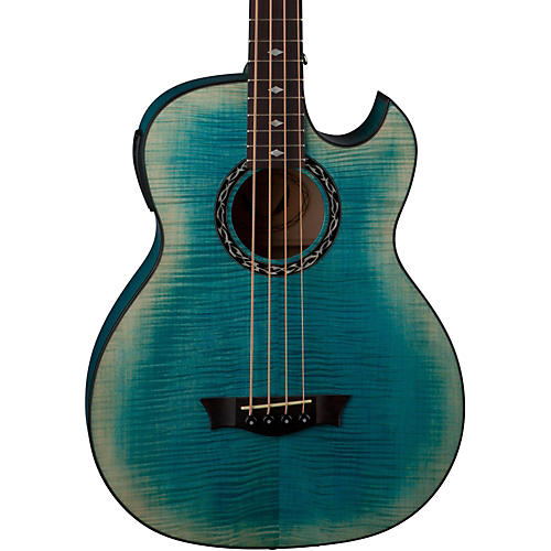 Dean Exhibition Flame Maple Acoustic-Electric Bass with Aphex-thumbnail