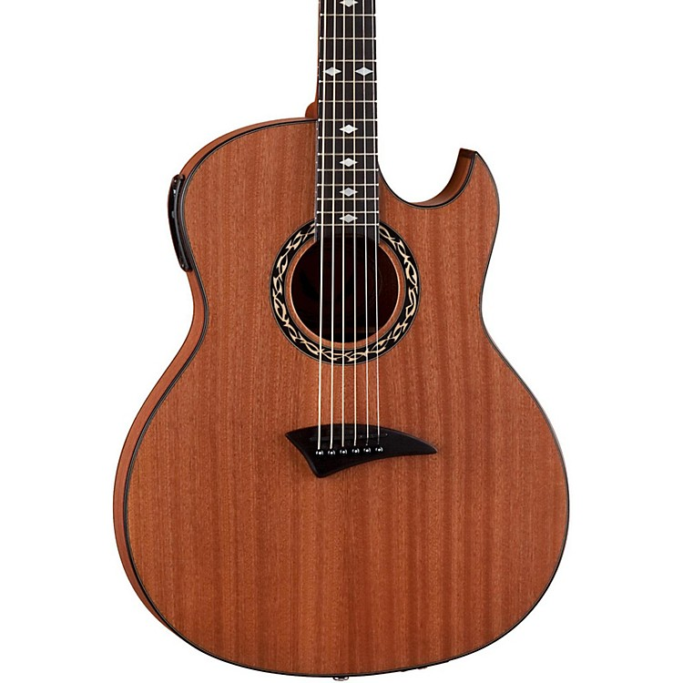 Dean Exhibition thin Body Acoustic-Electric Guitar w/Aphex Satin Natural