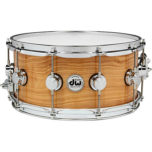 DW Exotic Figured Olive Ash Lacquer Snare-thumbnail