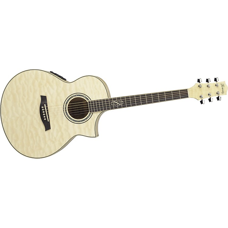 Ibanez Exotic Wood EW20QMEBBD Cutaway Acoustic-Electric Guitar