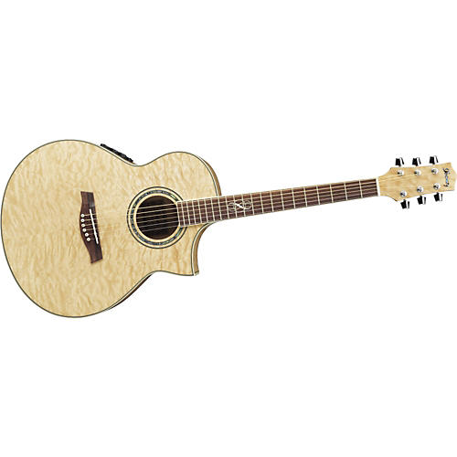 Ibanez Exotic Wood EW20QMEBBD Cutaway Acoustic-Electric Guitar-thumbnail