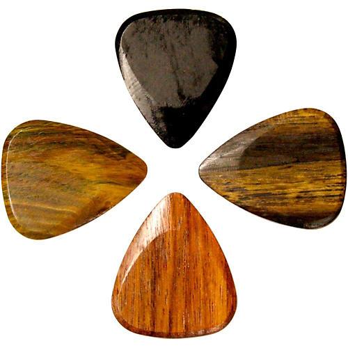 Timber Tones Exotic Wood Picks - Electric Sampler of 4 Guitar Picks-thumbnail