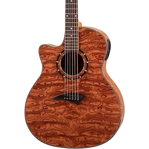 Dean Exotica Left-Handed Bubinga Acoustic-Electric Guitar w/Aphex Bubinga Wood