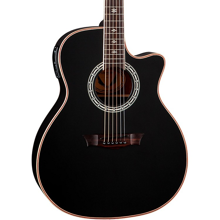 DeanExotica Plus Solid Top Acoustic-Electric GuitarClassic Black
