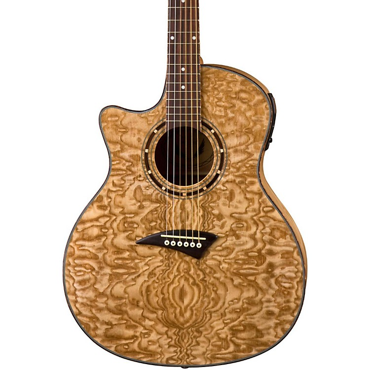 DeanExotica Quilted Ash Left-Handed Acoustic-Electric GuitarGloss Natural