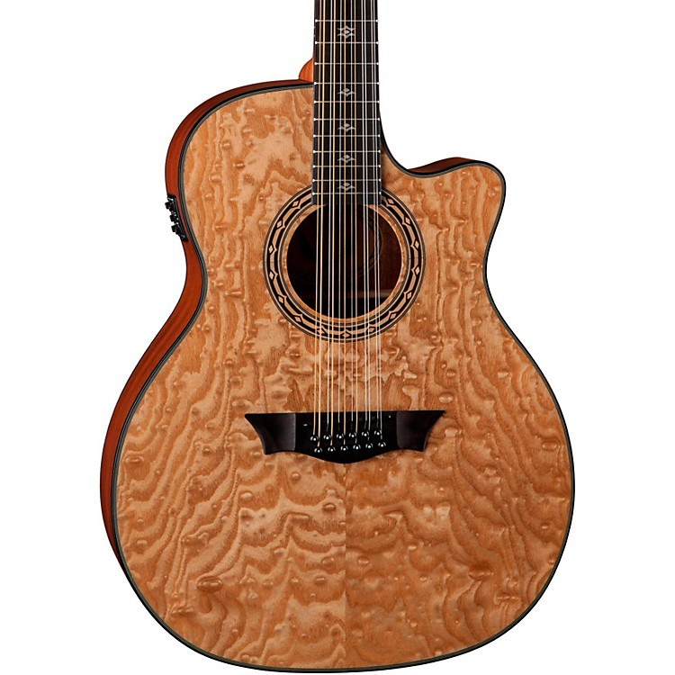 Dean Exotica Ultra Quilt Ash 12-String Acoustic-Electric Guitar Gloss Natural