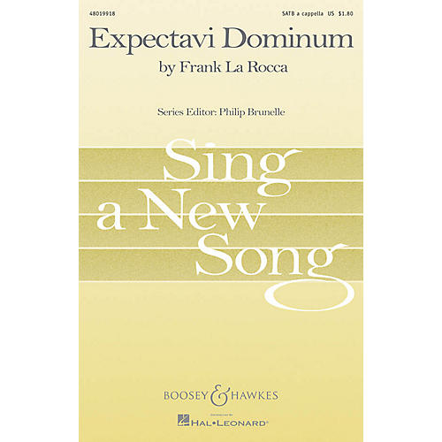 Boosey and Hawkes Expectavi Dominum (Sing a New Song Series) SATB a cappella composed by Frank La Rocca-thumbnail