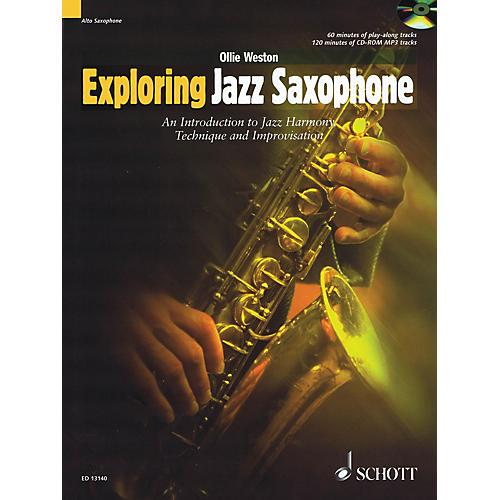 Schott Exploring Jazz Saxophone Woodwind Method Series Book with CD Written by Ollie Weston-thumbnail
