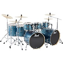 Pearl Export Double Bass 8-Piece Drum Set Aqua Blue Glitter