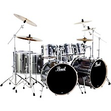 Pearl Export Double Bass 8-Piece Drum Set Smokey Chrome