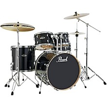 Pearl Export EXL Standard 5-Piece Drumset with Hardware Black Smoke