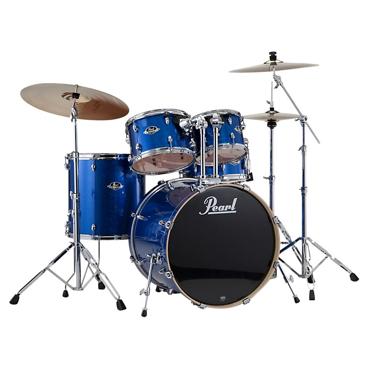 Pearl Export Fusion 5-Piece Drum Set with Hardware Electric Blue Sparkle