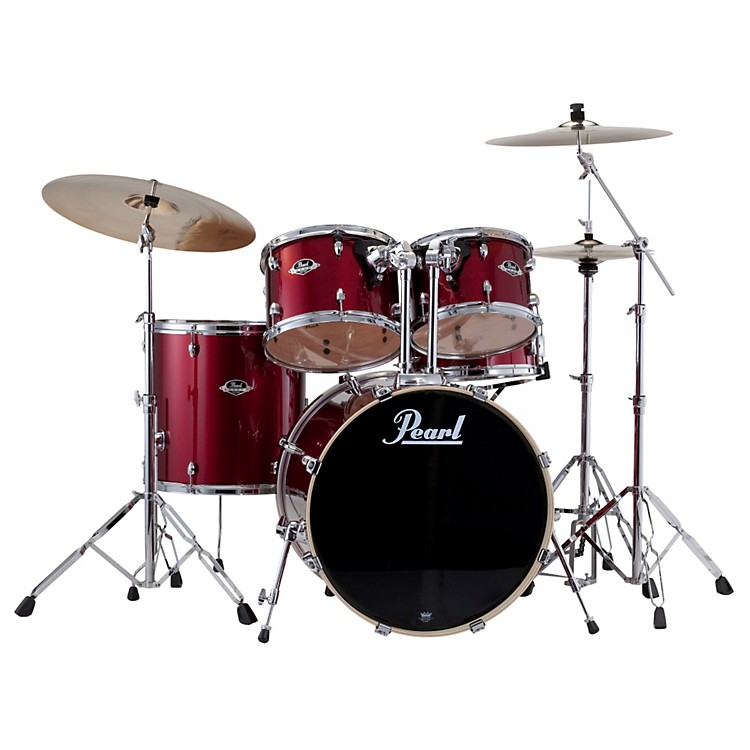 PearlExport Fusion 5-Piece Drum Set with HardwareWine Red