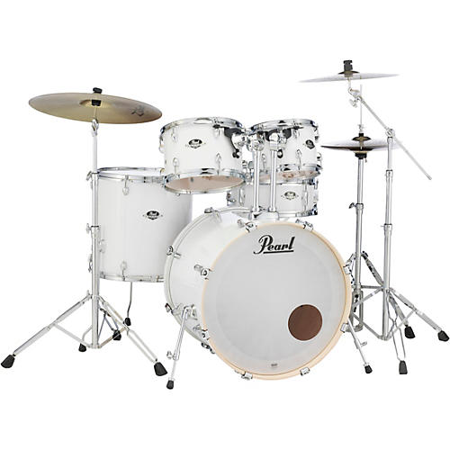 Pearl Export Standard 5-Piece Drum Set with Hardware Pure White