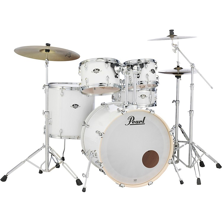 Pearl Export Standard 5-Piece Drum Set with Hardware Smokey Chrome