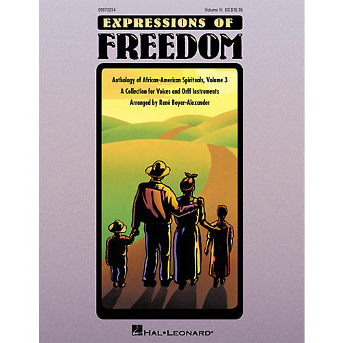 Hal Leonard Expressions Of Freedom Volume 3 (Anthlogy of African American Spirituals) by Rene Boyer-Alexander (Orff)-thumbnail
