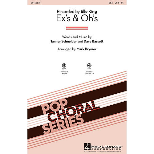 Hal Leonard Ex's & Oh's SSA by Elle King arranged by Mark Brymer-thumbnail
