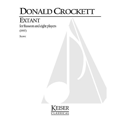 Lauren Keiser Music Publishing Extant (for Bassoon Solo and 8 Instruments) LKM Music Series Composed by Donald Crockett-thumbnail