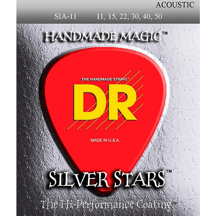 DR Strings Extra Life Silver Star SIA-11 Acoustic Strings
