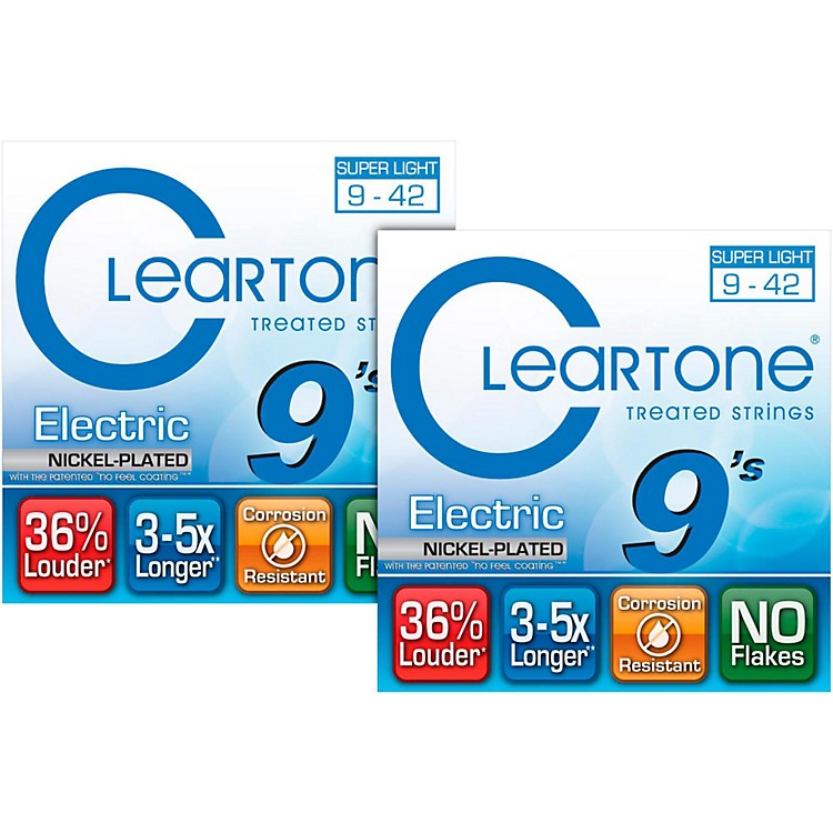Cleartone Extra-Light Coated Electric Guitar Strings (2-Pack)