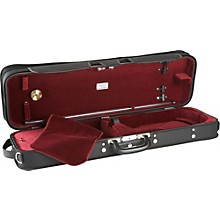 J. Winter Extra Light Series Violin Case Black with Wine Interior
