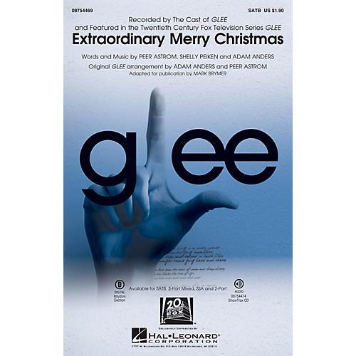 Hal Leonard Extraordinary Merry Christmas 3-Part Mixed by Glee Cast Arranged by Mark Brymer-thumbnail
