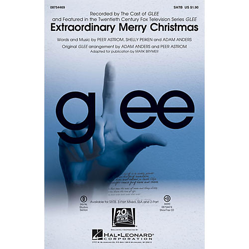 Hal Leonard Extraordinary Merry Christmas SATB by Glee Cast arranged by Mark Brymer-thumbnail