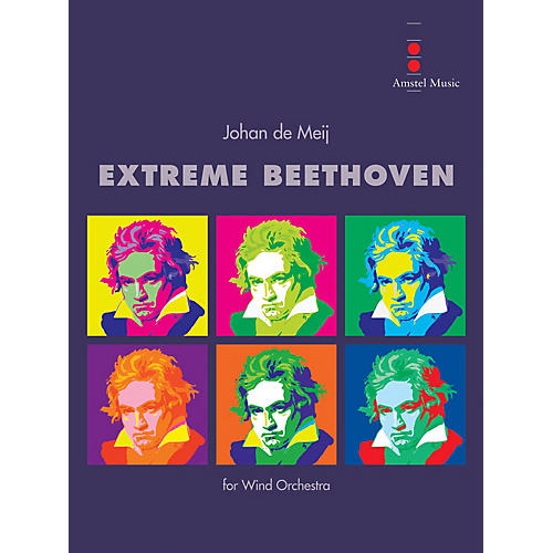 Amstel Music Extreme Beethoven (Score Only) Concert Band Level 5 Composed by Johan de Meij-thumbnail