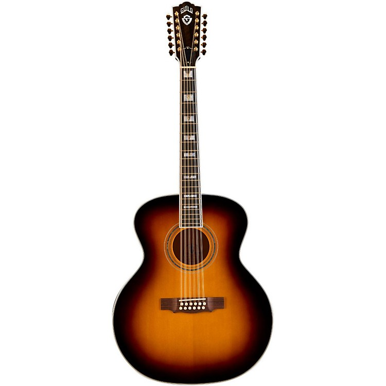Guild F-412 Jumbo 12-String Acoustic Guitar Antique Burst