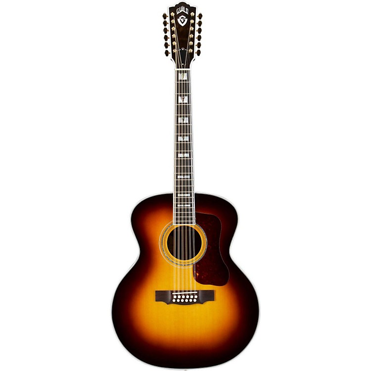GuildF-512 Acoustic-Electric Guitar with DTAR Multi-Source Pickup System