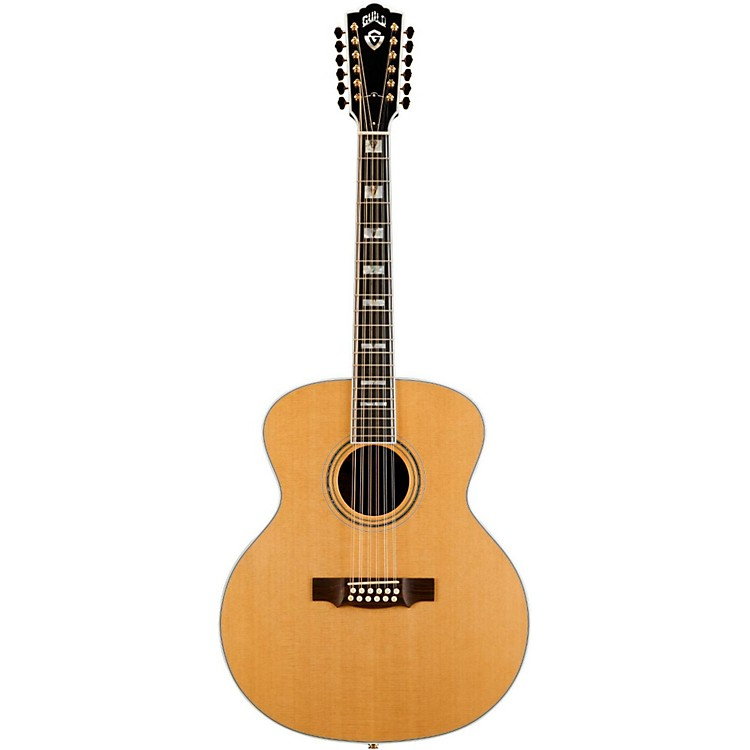 GuildF-512 Acoustic-Electric Guitar with DTAR Multi-Source Pickup SystemNatural