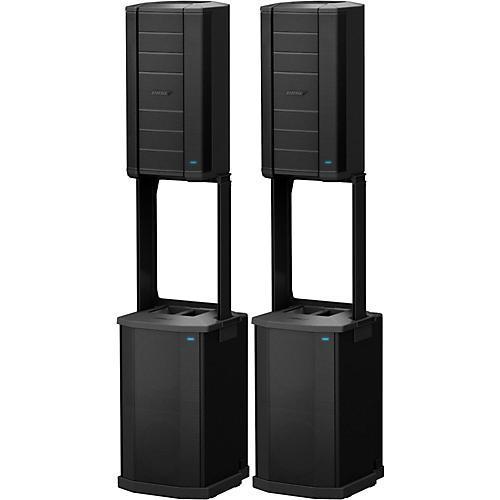 bose pa. bose f1 model 812 flexible array loudspeaker and subwoofer pair pa