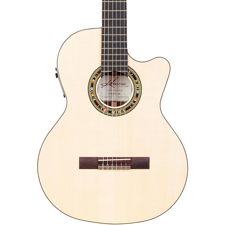 KremonaF65CW Fiesta Cutaway Acoustic-Electric Classical GuitarNatural