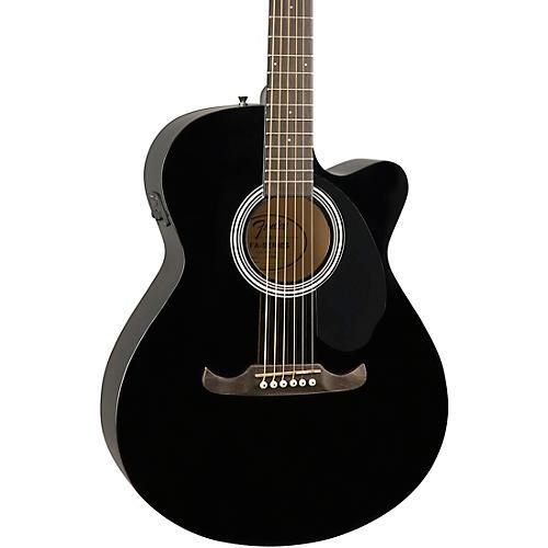 fender fa 135ce concert acoustic electric guitar black musician 39 s friend. Black Bedroom Furniture Sets. Home Design Ideas