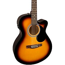 Open BoxFender FA-135CE Cutaway Concert Acoustic-Electric Guitar